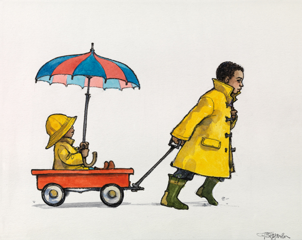 Illustration from the Permanent Collection at The Eric Carle Museum of Picture Book Art © 1999 by Trina Schart Hyman. Gift of The Charles Collection