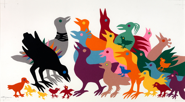 Illustration from the Permanent Collection at The Eric Carle Museum of Picture Book Art © 2003 by Ashley Bryan
