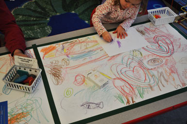 Scribble Drawing For Kids : Toddler table scribbles carle museum