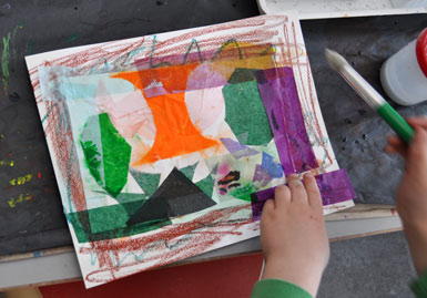Tissue Paper Collage - The Eric Carle Musuem