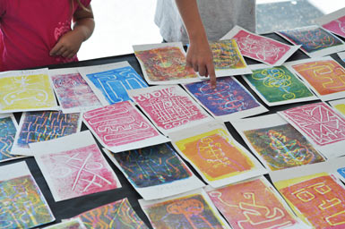 Monotype printmaking with kids carle museum for Craft paint near me