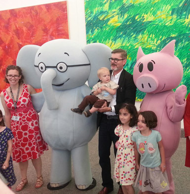 Mo Willems with Elephant&Piggie at The Eric Carle Museum of Picture Book Art