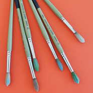 Round Brushes / The Art Studio's Favorite Materials / The Eric Carle Museum Studio