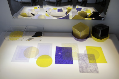 purple and yellow light table exploration - The Eric Carle Museum of Picture Book Art