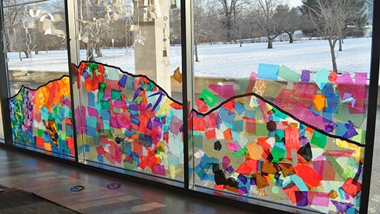 Collaborative Window Collage Carle Museum