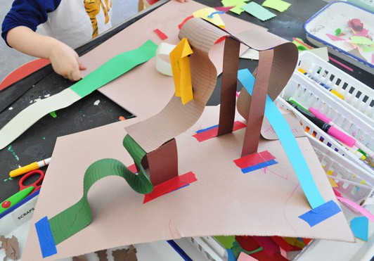 paper rollercoaster