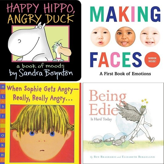 Cover images for Happy Hippo, Angry Duck; Making Faces; When Sophie Gets Angry - Realy, Really Angry; Being Edie is Hard Today