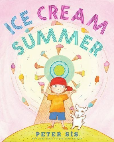 Cover image for Ice Cream Summer shows boy juggling multiple colorful ice cream cones.