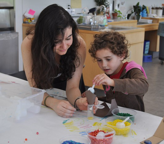 Luna Goldberg in the Art Studio