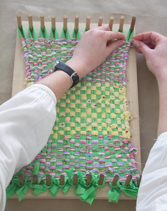 Weaving Fabric with a Handmade Loom | Carle Museum