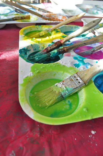Flour Paint Experiment / The Eric Carle Museum of Picture Book Art