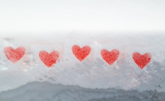 Snowy Day Valentine's Day Stencils- The Eric Carle Museum Studio Blog