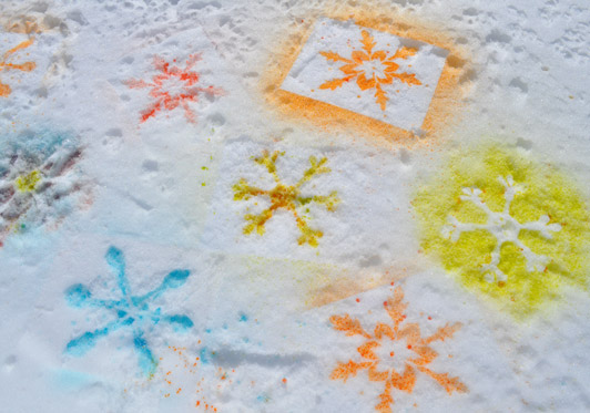 Snowy Day Stencils- The Eric Carle Museum Studio Blog